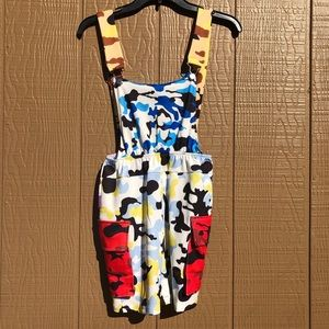 Dresses & Skirts - Camouflage Overalls Mini Dress Colorful Camo